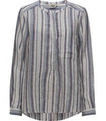 bella shirt blus långärmad blå twist & tango