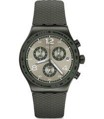 reloj cronógrafo verde swatch