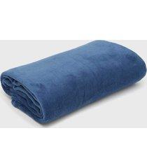 cobertor queen atlântica 1pçs sofisticata veleiro azul-marinho