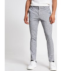 river island mens grey textured super skinny fit smart trousers