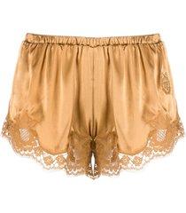 dolce & gabbana lace trim shorts - neutrals