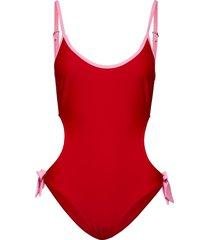 marina swimsuit baddräkt badkläder röd résumé