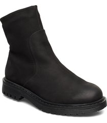 solid w leather shoe shoes boots ankle boots ankle boots flat heel svart sneaky steve