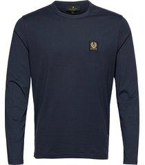 belstaff l/s t-shirt t-shirts long-sleeved blauw belstaff