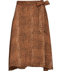 tanyaiw skirt knälång kjol brun inwear