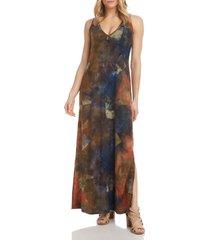 karen kane tie dye patchwork maxi dress, size medium at nordstrom