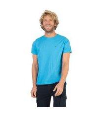 t-shirt básica fit azul claro azul claro/p