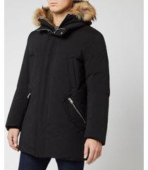 mackage men's edward parka jacket - black - s