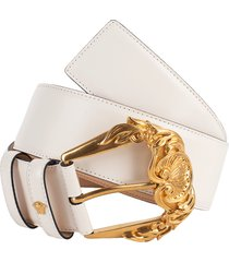 gold buckle wide leather belt