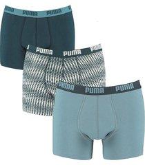 puma boxershorts 3-pak triangle blauw