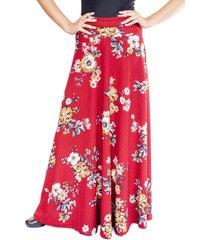 falda martina roja flores natalia seguel