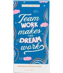 feeling smitten team work makes the dream work bath bar