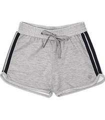 shorts infantil moletinho pulla bulla listra lateral feminino