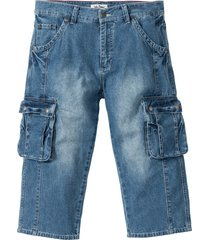jeans cargo 3/4 regular fit (blu) - john baner jeanswear