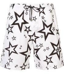 dolce & gabbana star print swim shorts - white