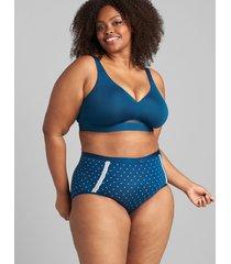 lane bryant women's extra soft full brief panty 34/36 poseidon dots