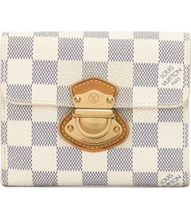 louis vuitton 2011 pre-owned joy damier wallet - white