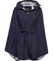 oslo 3l w poncho outerwear sport jackets blauw bergans