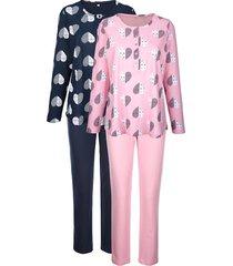 pyjama's per 2 stuks blue moon marine::roze::ecru