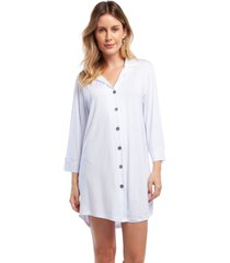 camisão feminino aberto manga longa branco