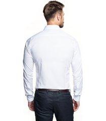 koszula bexley 2801/1 długi rękaw slim fit biały