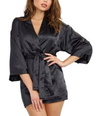 dreamgirl satin robe & chemise 2pc set