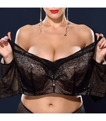 j cup plus reggiseni minimizer sfoderati tinta unita push-up in pizzo