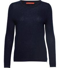 cashmere o-neck stickad tröja blå coster copenhagen