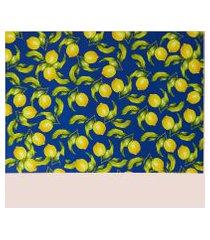 amaro feminino easy home design kit jogo americano, limão siciliano azul