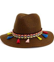cappello di paglia da giardinaggio per protezione spiaggia uv