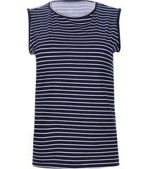 camiseta esqueleto azul-blanco facol