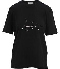 saint laurent logo print t-shirt