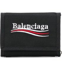 balenciaga explorer square coin wallet - black