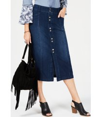 style & co petite denim a-line skirt, created for macy's