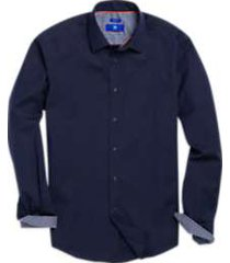 egara navy stripe sport shirt