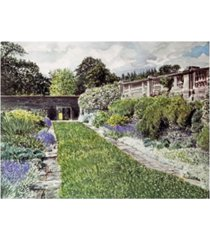 "david lloyd glover approach to the hatley castle italian gardens canvas art - 15"" x 20"""