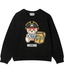 moschino black sweatshirt with toy print