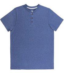 camiseta manga corta cuello henley slim fit para hombre 94099
