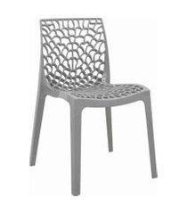 conjunto 02 cadeiras gruv cinza rivatti