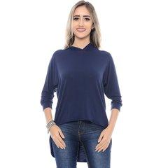 blusa b'bonnie feminina mullet raquel azul