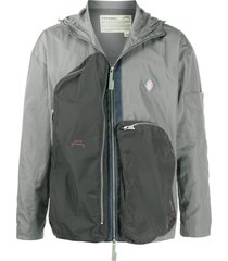 a-cold-wall* hooded panelled lightweight jacket - grey