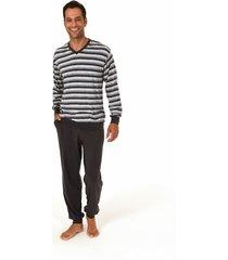 heren pyjama normann 90730-50-grijs