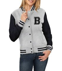 jaqueta criativa urbana college americana letra b