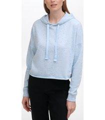 calvin klein jeans raw-hem hoodie