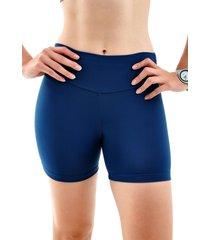 shorts mama latina suplex azul marinho - azul marinho - feminino - poliamida - dafiti