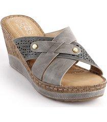 sandalia casual tipo confort para dama 93282240-j5gris