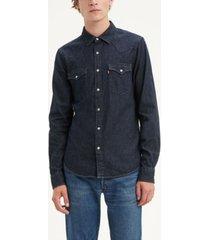 levi's men's classic clean standard fit denim western shirt