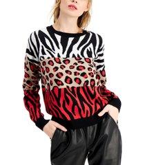 bar iii animal print sweater, created for macy's