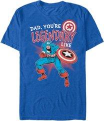 marvel men's comic collection legendary like captain america short sleeve t-shirt