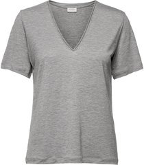 aneilia t-shirts & tops short-sleeved grå by malene birger